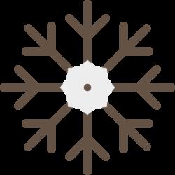 Fiocco di neve marrone